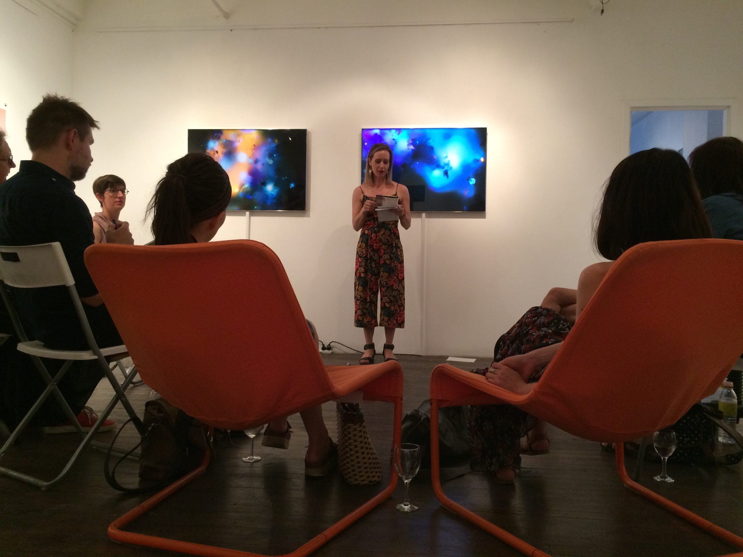 a poetry reading at the visual voice gallery