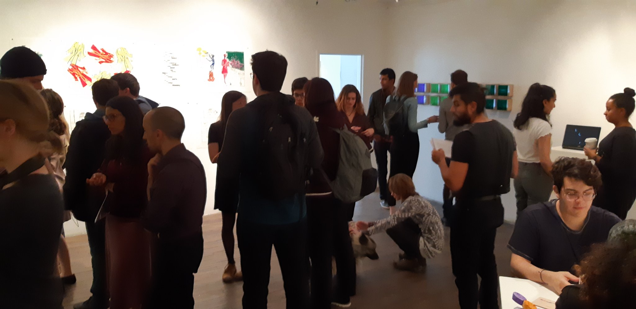people visit the visual voice gallery