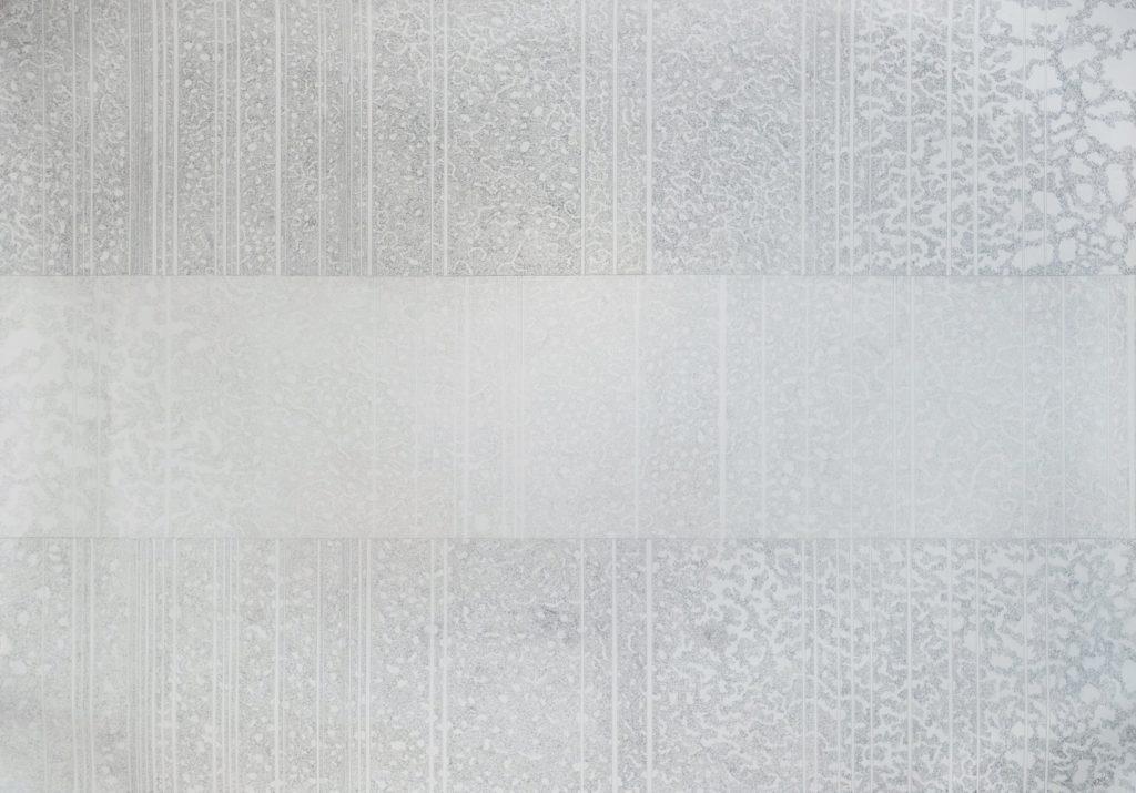 Grey panel of vertical lines