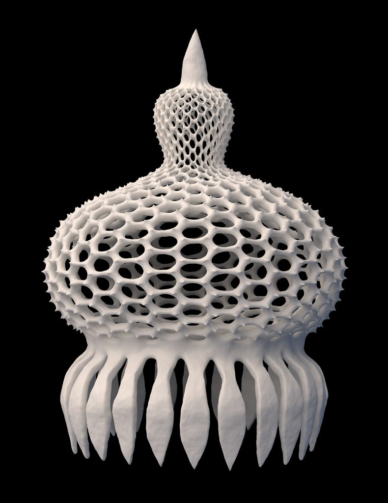 3D render of Anthocyrtium Campanula