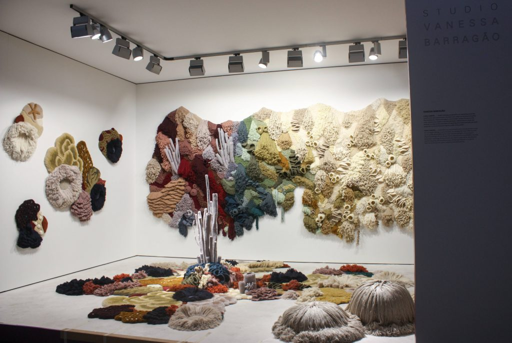 Vanessa Barragão's Coral Garden Tapestry, on view at Domotex Hannover