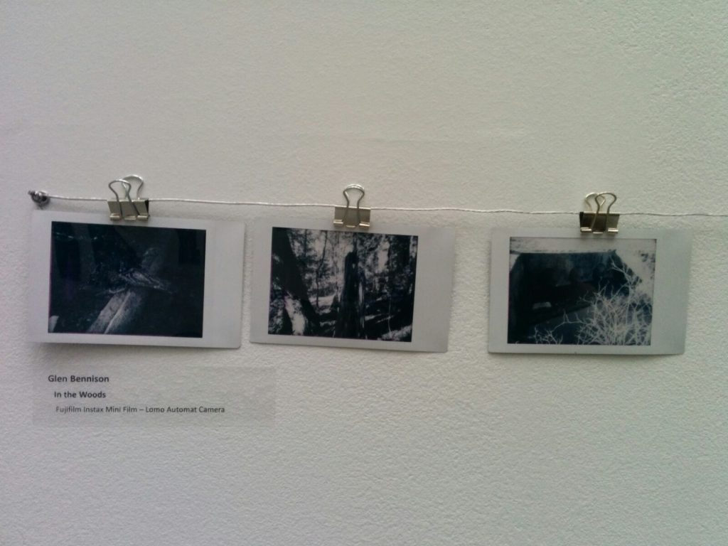 three black and white photos from Science World's An Instant Instant exhibition