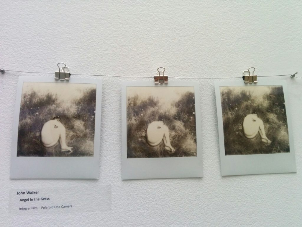 three black and white photos from the An Instant Instant show at Science World