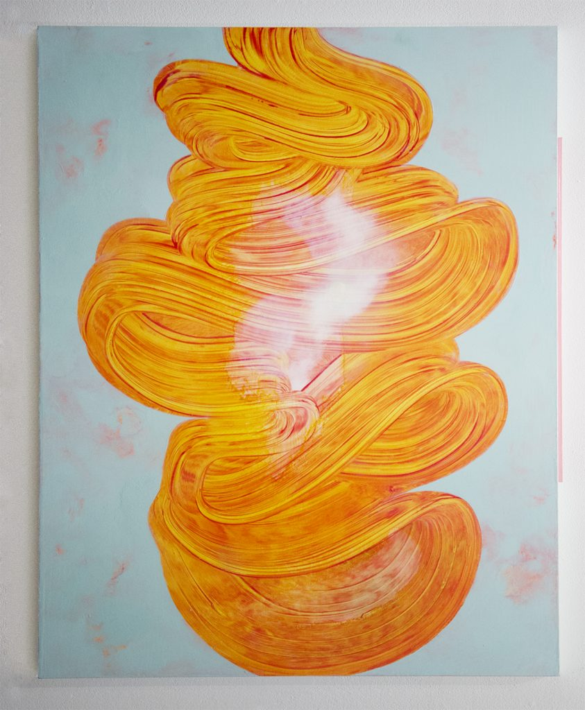 An image of gene flow, painting