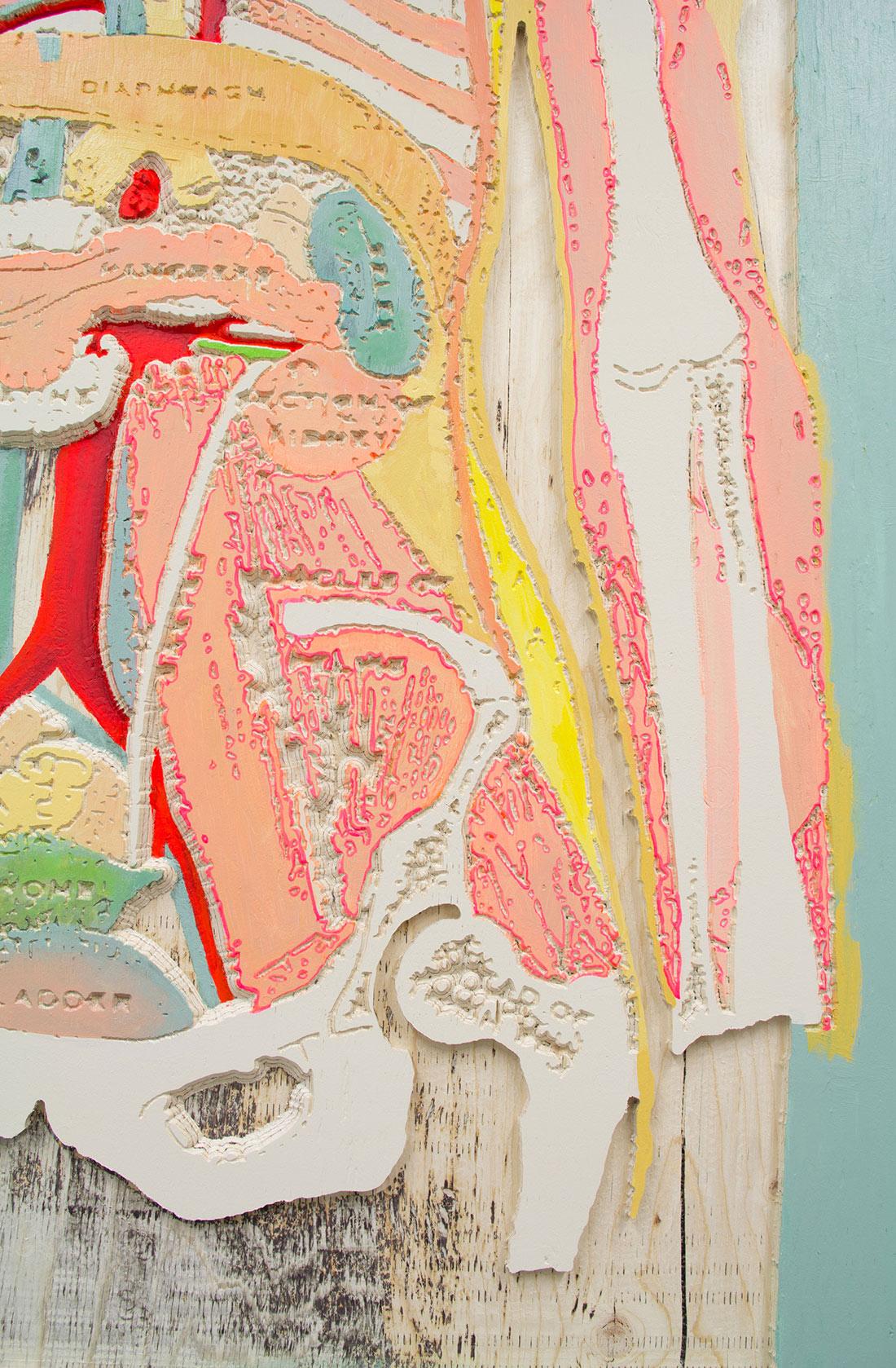 Artwork close up by Marnie Blair