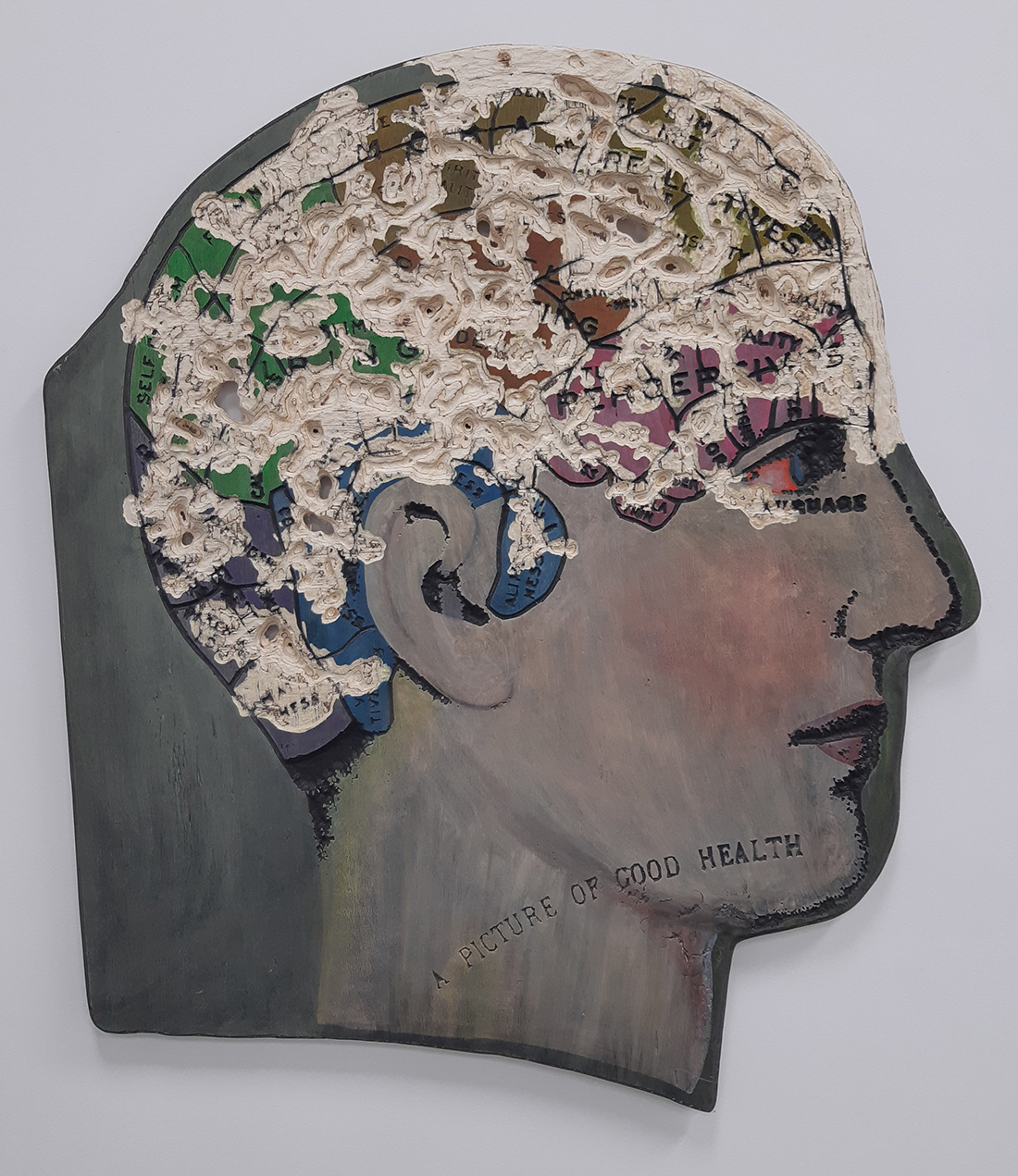 Image of head, mixed media by Marnie Blair