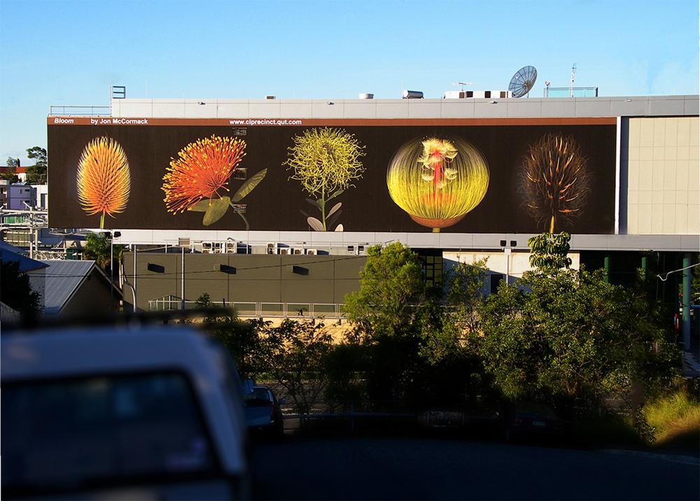 A billboard full of flowers