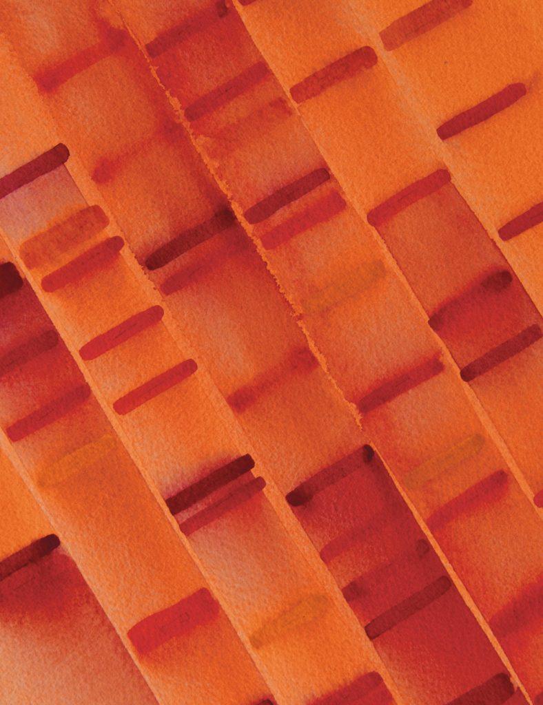 Red and orange artwork