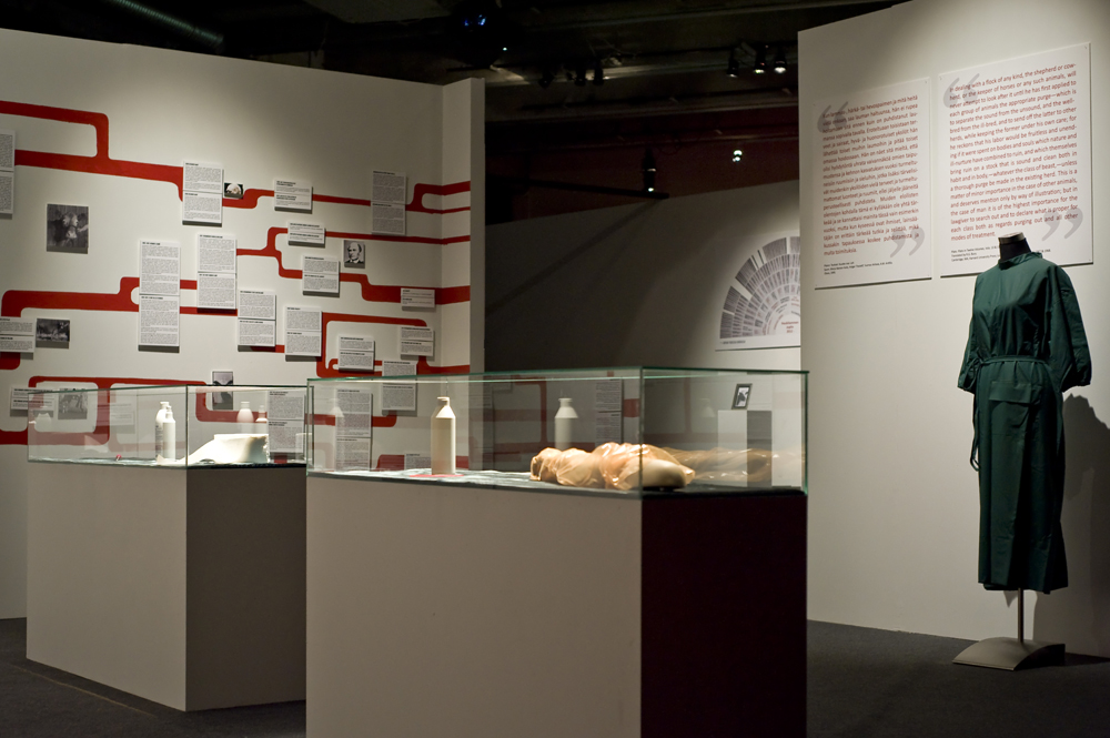 Installation image from Museum of the History of Cattle