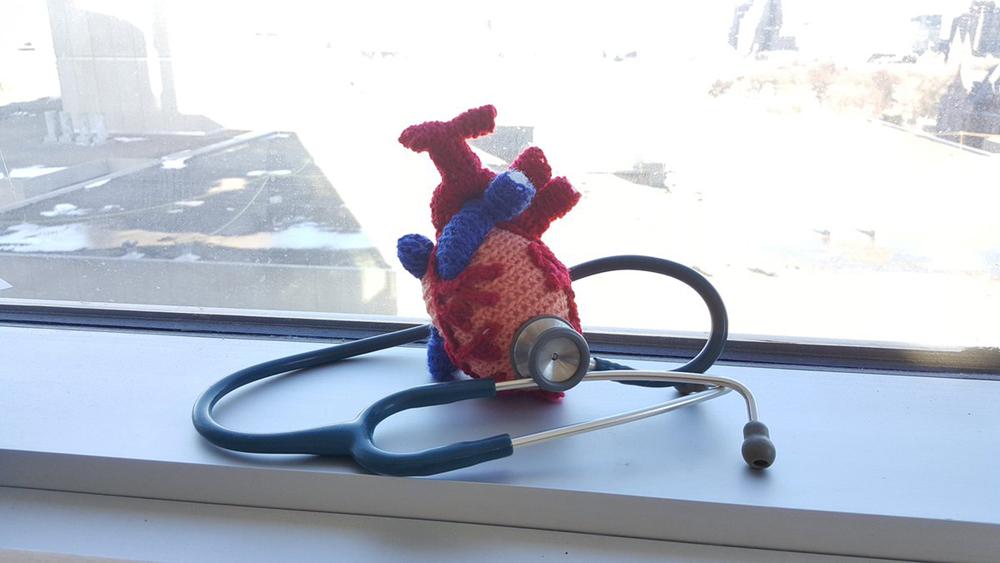 Crocheted Heart sciart by Tahani Baakdhah