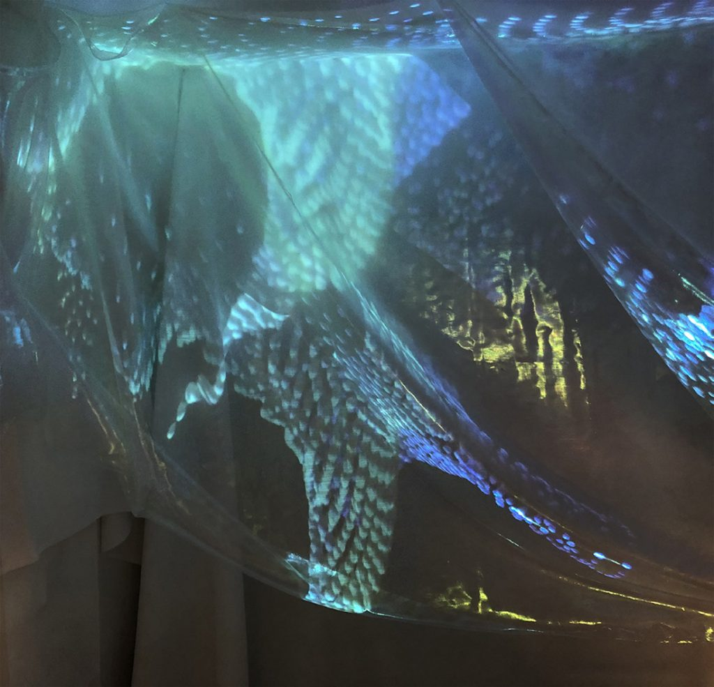 Light installation sciart