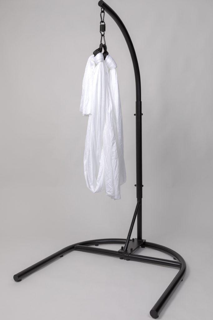 sculptural sciart: an empty white sheet dangling