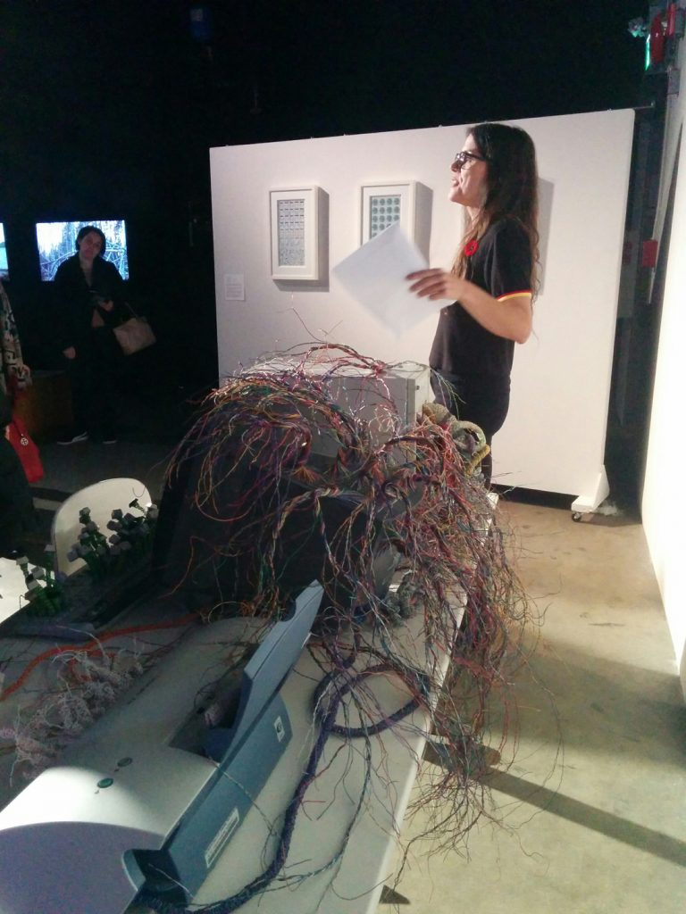 Char Hoyt discussing Twyla Exner's Invasion at Collisions Festival