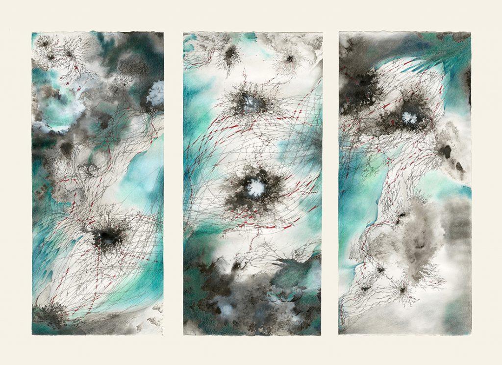 abstract sciart by Katherine Garrett