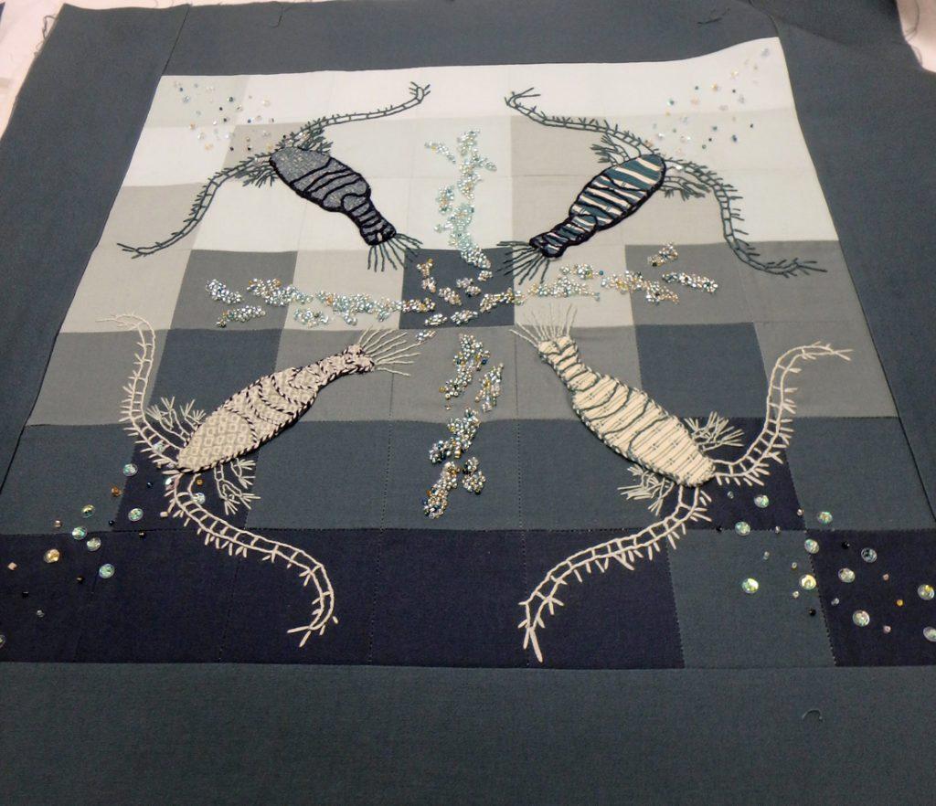 Plankton embroidery
