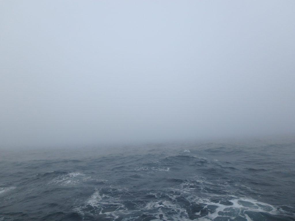 the ocean on a foggy day