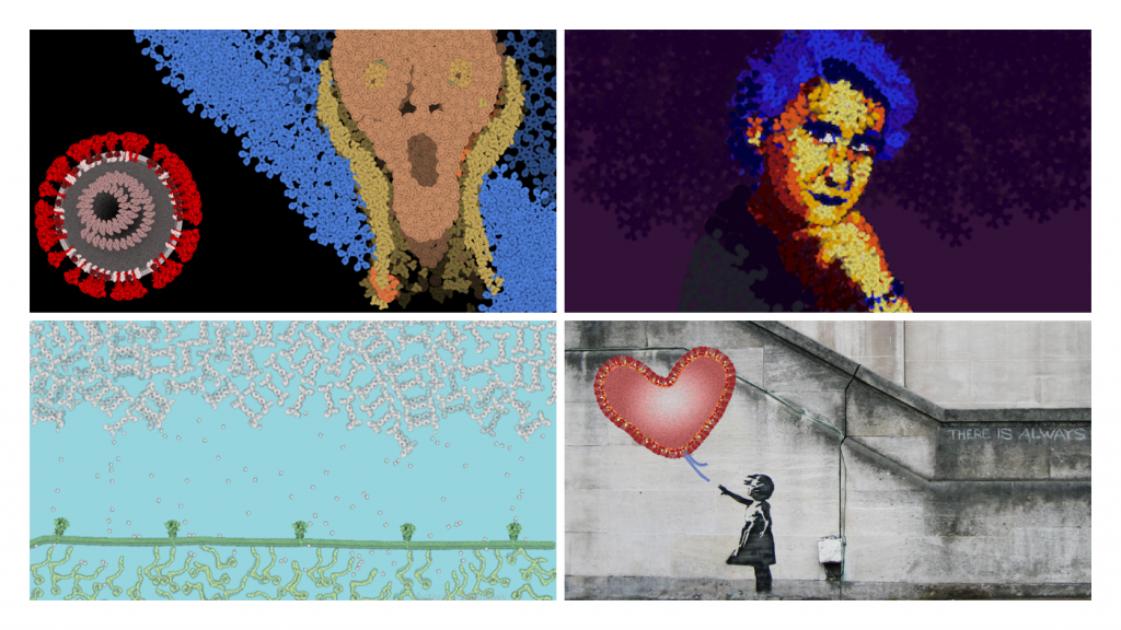 Selected entries in the art category. Some images include variations of Edvard Munch's The Scream and Banksy's Girl with Balloon
