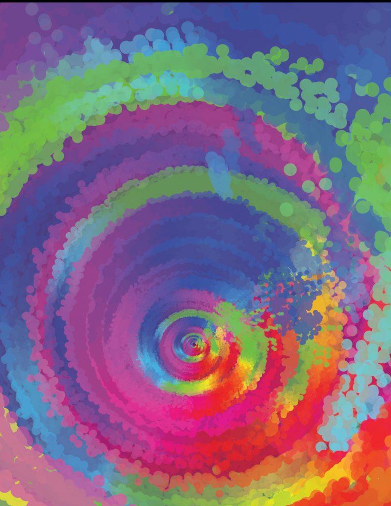 Multicolored swirl
