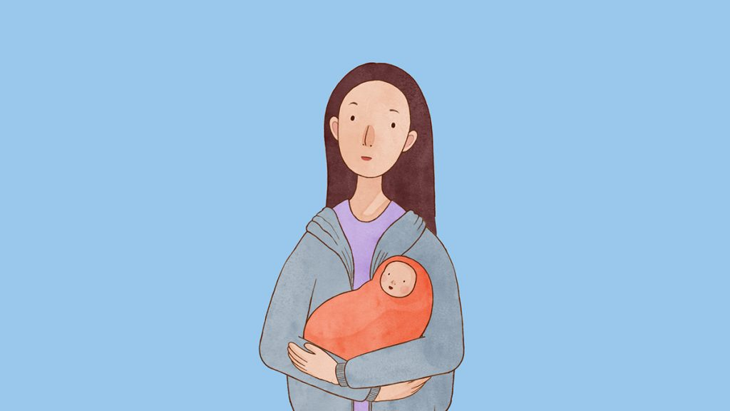 HIV Transmission Through Breastfeeding (thesis 2019) by Sarah Crawley. A woman holding her baby.