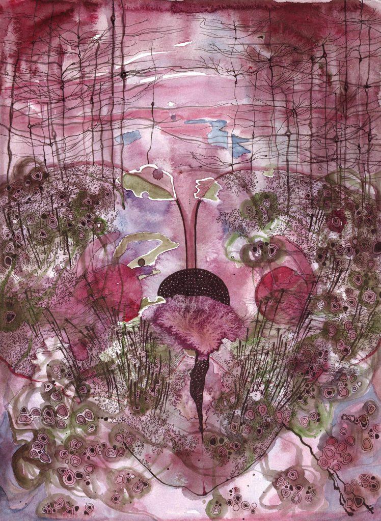 Erasing Fear (2015) by Sarah Crawley. An abstract art on the theme of fear.