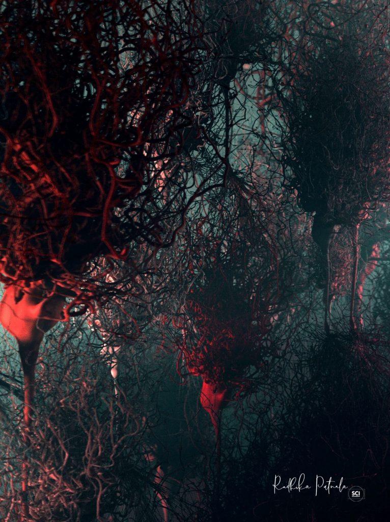Neurons (2020) by Dr. Radhika Patnala. A image on neurons like a forest.