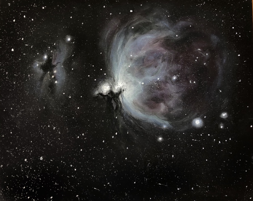 Pastel drawing created during an observation night using telescopes and binoculars at the National Messier Marathon 2018. The drawing participated in the category of artistic astronomy and won 1st place.
